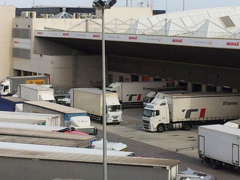 Camiones en actividad